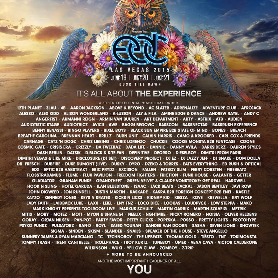 the electric daisy carnival in las vegas has announced its long